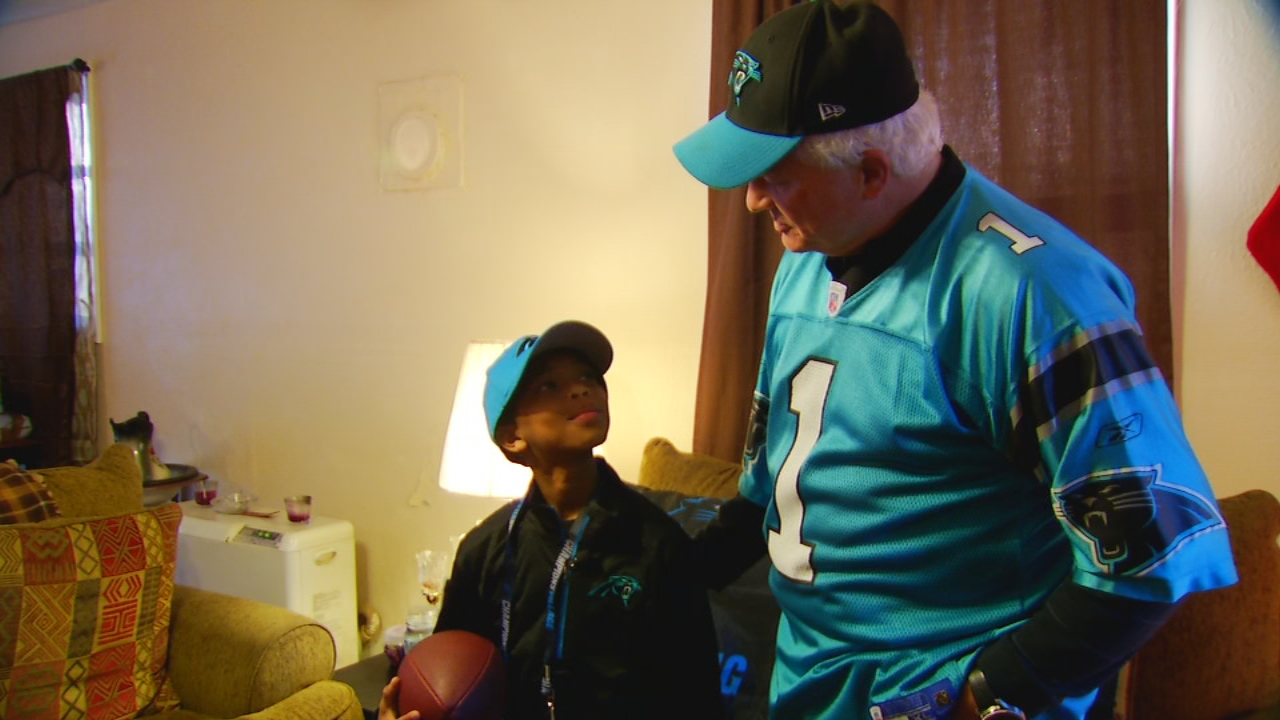 Game Changer: Fletcher boy gets chance of a lifetime with the Panthers (Photo credit: Joey Popp, Big Brothers Big Sisters)