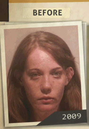 This 2009 photo was taken of a woman  who reportedly had a 'possession of heroin' charge. (Photo, info from rehabs.com/)