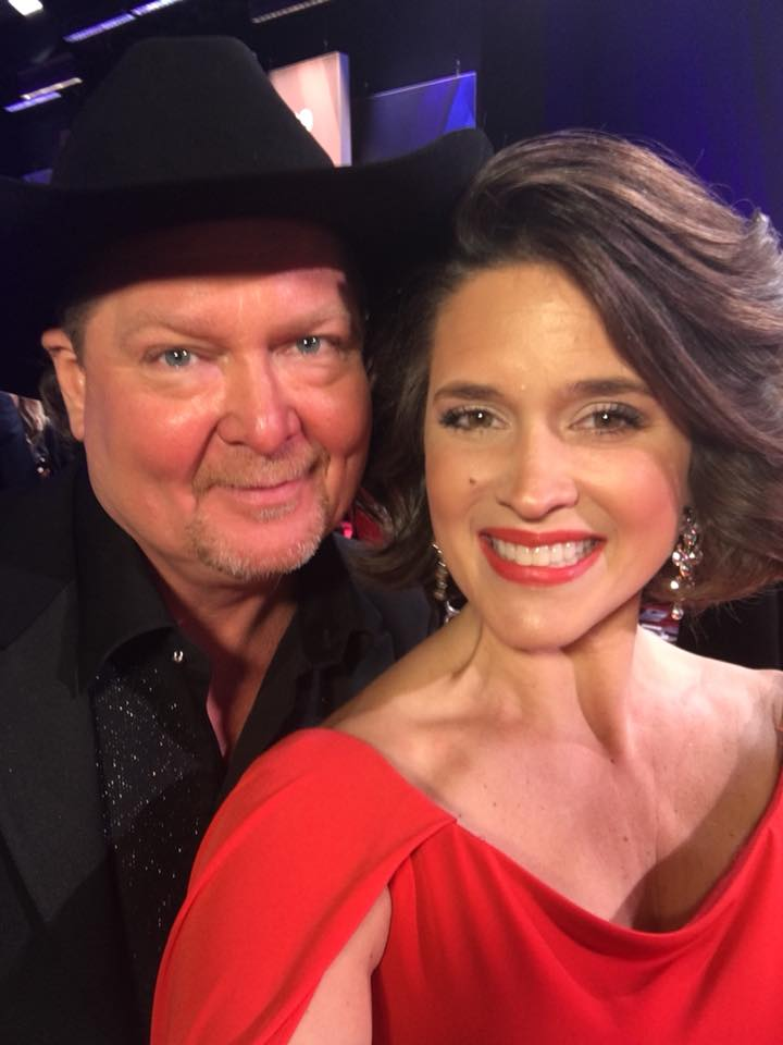 Tracy Lawrence and Anchor Erika Kurre (Fox 17 News)<p></p>