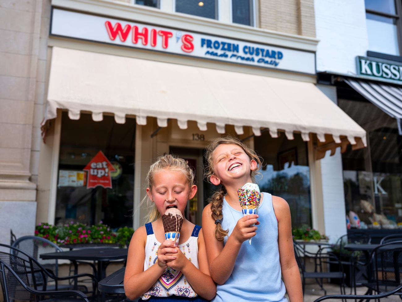 Whits Frozen Custard makes their creamy treats fresh every day. Staying focused on quality, they only feature three flavors at a time: vanilla, chocolate, and a special weekly flavor. It's located in the charming village of Granville. ADDRESS:{ }844 S 30th Street, Heath, OH (43056) / Image: Garrett Martin via Explore Licking County // Published: 8.23.19
