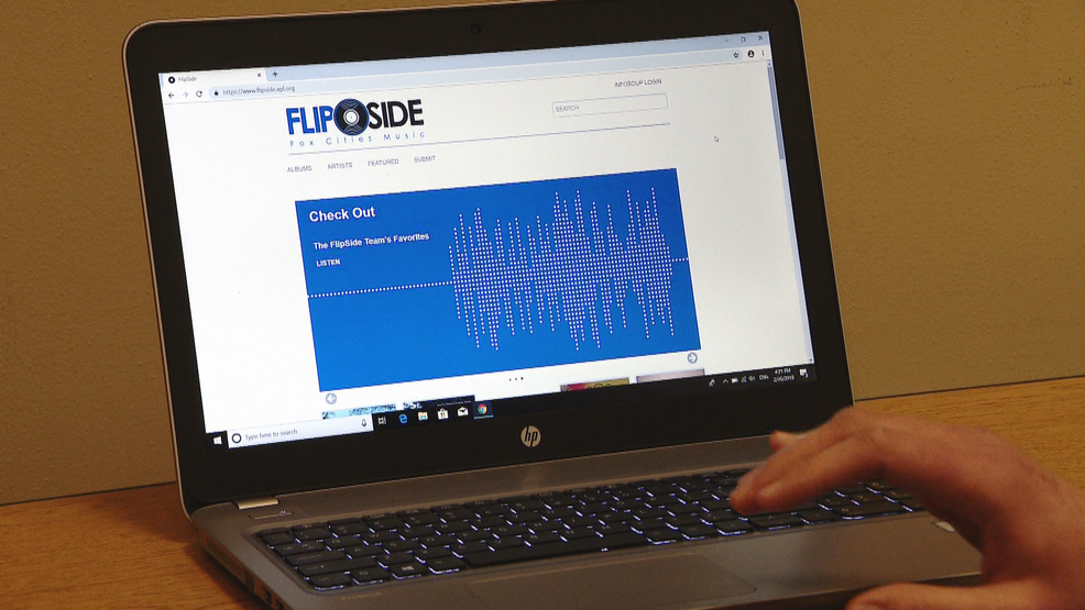 The FlipSide website for downloading local music is demonstrated Feb. 26, 2019, at the Appleton Public Library.