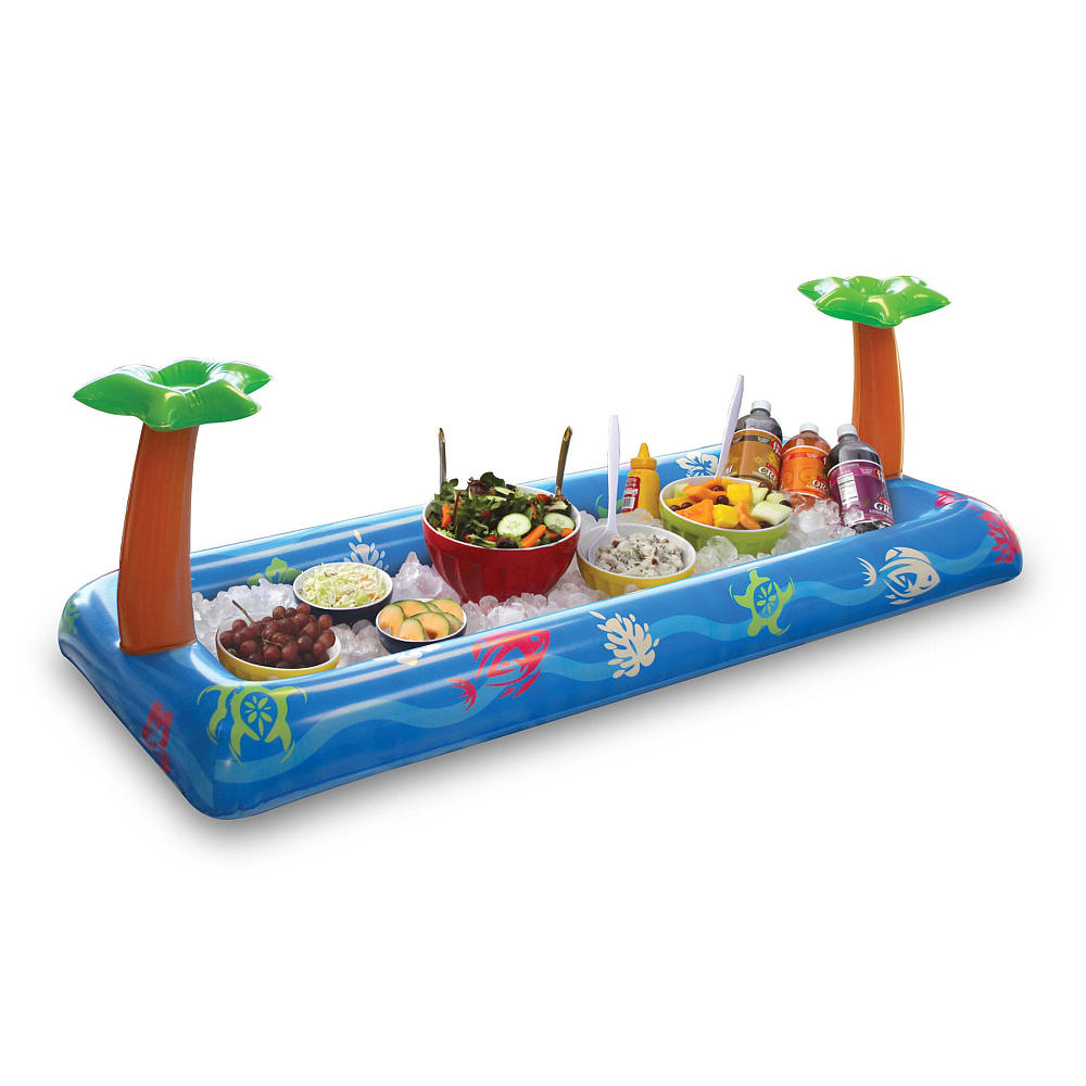 Inflatable Salad Bar: Have you ever wanted to crunch into a carrot but the veggie platter is all the way ashore? Fret not, this inflatable salad bar brings the snack action to you. Buy the palm tree adorned veggie vessel at Toys R Us for $19.99. (Photo: Courtesy Toys R Us)