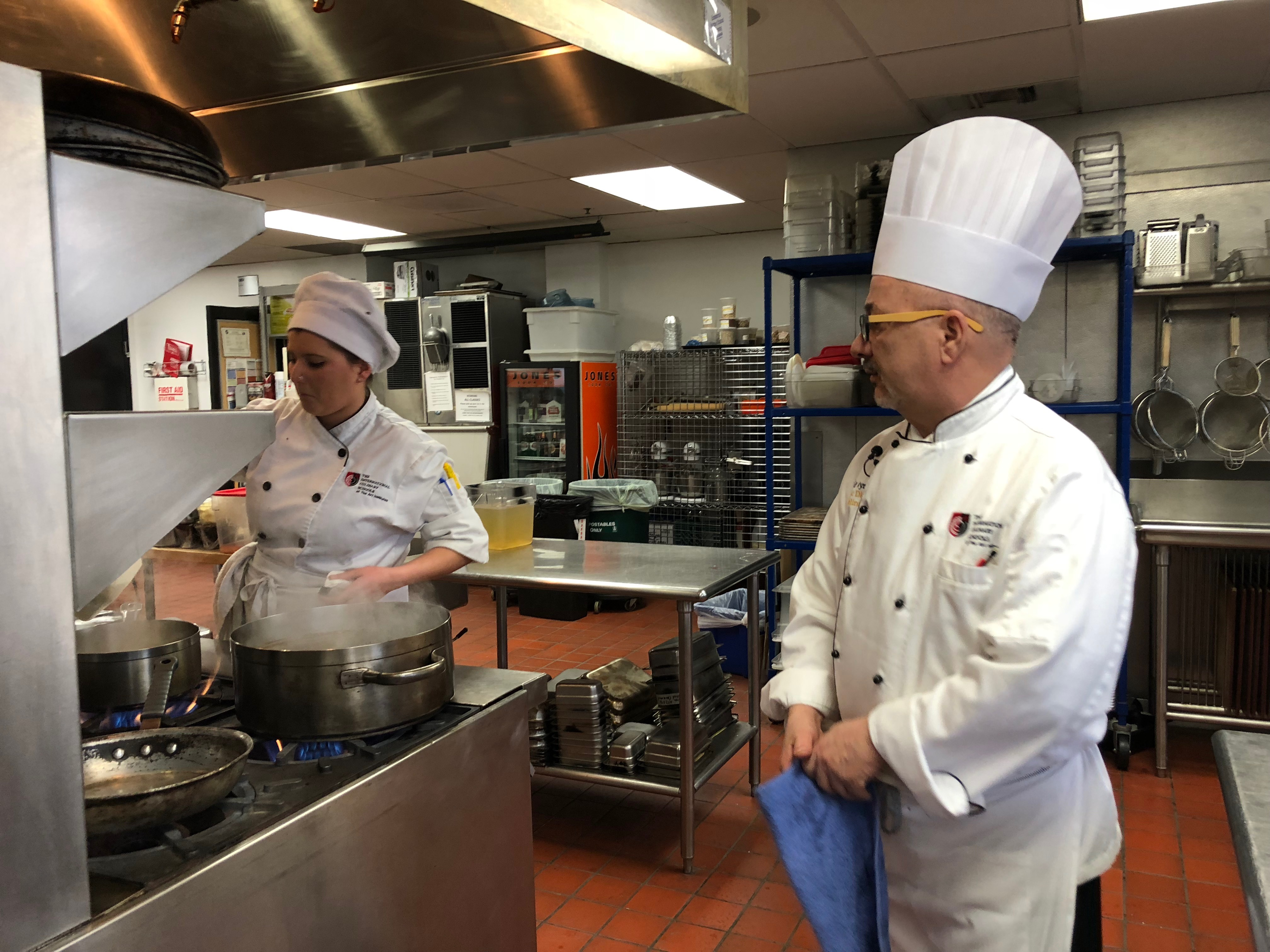 Chef David Wynne is Chef Instructor at Art Institute of Seattle's Portfolio Restaurant. He runs the kitchen here with military like precision-- and a combination of toughness and TLC. Students get the opportunity to learn all about culinary arts from the kitchen to the restaurant. (Seattle Refined)<p></p><p></p>
