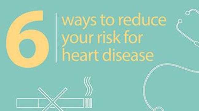 Six ways to reduce your risk for heart disease