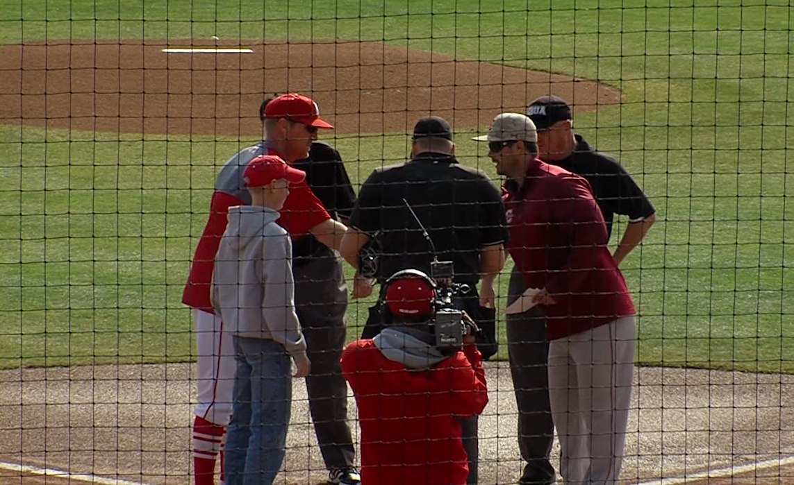 Damon Day and Nebraska played College of Charleston, March 19, 2017, at Hawks Field at Haymarket Park (NTV News)