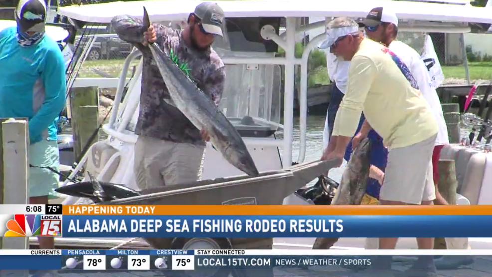 Alabama deep sea fishing rodeo results wpmi for Deep sea fishing mobile al