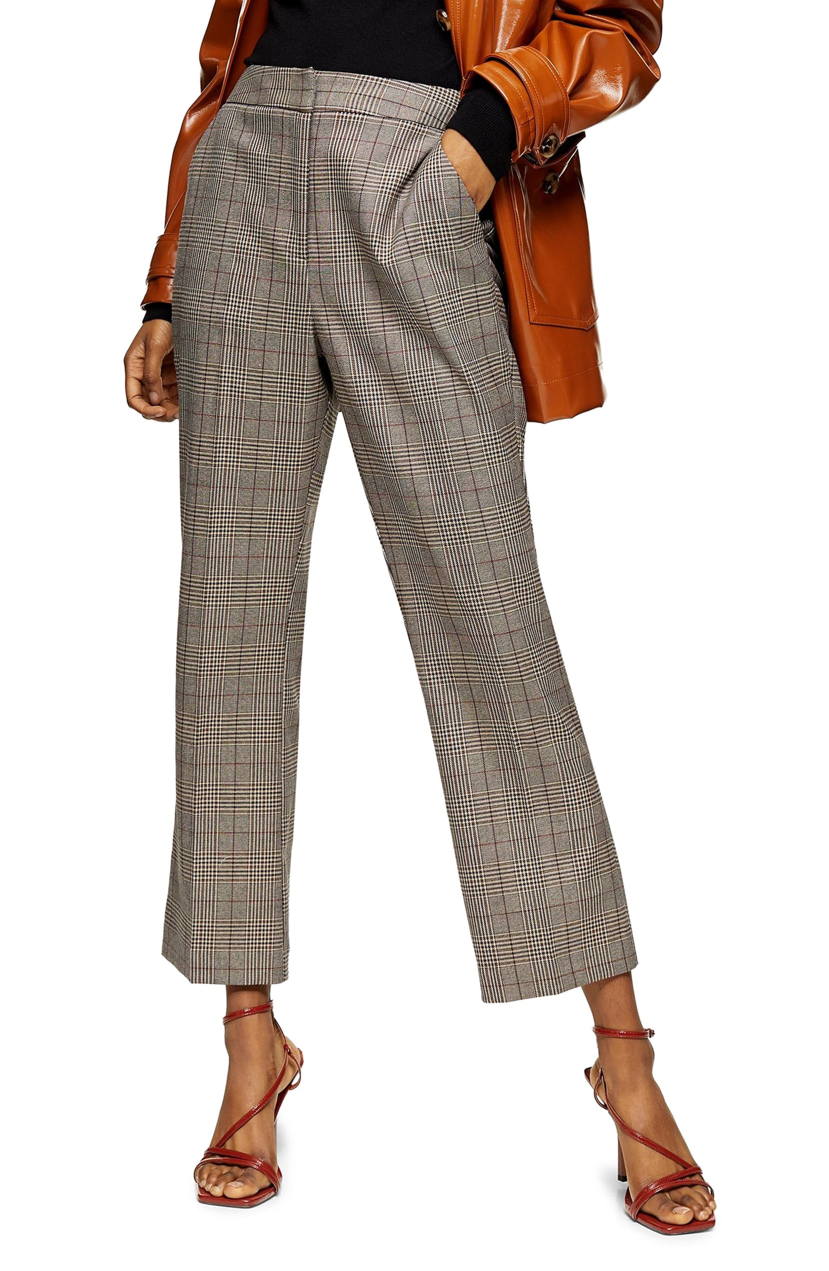 "<p>Smart with modern sass, these trousers come in a heritage check and are cut relaxed throughout while ending in a cropped, slightly flared hem. <a  href=""https://shop.nordstrom.com/s/topshop-ella-check-flare-trousers/5534029/full?origin=category-personalizedsort&breadcrumb=Home%2FWomen%2FTopshop%20%26%20Trend&color=brown"" target=""_blank"" title=""https://shop.nordstrom.com/s/topshop-ella-check-flare-trousers/5534029/full?origin=category-personalizedsort&breadcrumb=Home%2FWomen%2FTopshop%20%26%20Trend&color=brown"">Shop it{&nbsp;}</a>- $80. (Image: Nordstrom){&nbsp;}</p>"
