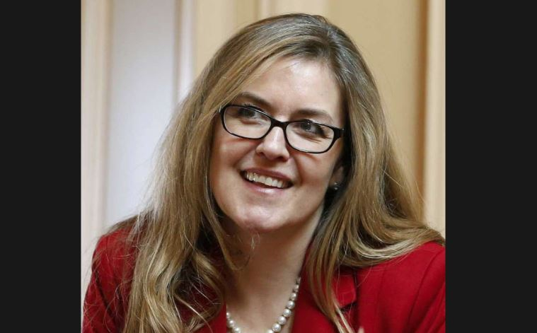 <p>In this Wednesday, April 11, 2018 photo, Virginia State Sen. Jennifer Wexton, D-Loudon talks with colleagues during the Senate special budget session at the Capitol in Richmond, Va. Wexton is one of the candidates in the crowded June Democratic primary that will produce a viable contender in the district representing northern Virginia suburbs and challenge Republican Barbara Comstock. (Photo: Steve Helber, AP)</p>