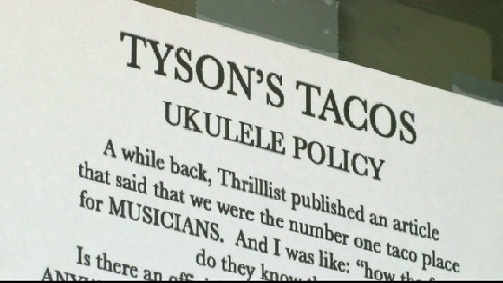 Taco Joints Ukulele Policy Trades Tacos For Songs Keye