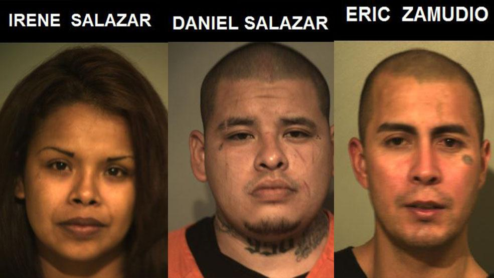 Irene Salazar, Daniel Salazar and Eric Zamudio were charged Monday in connection with Kassandra Ramirez's death.