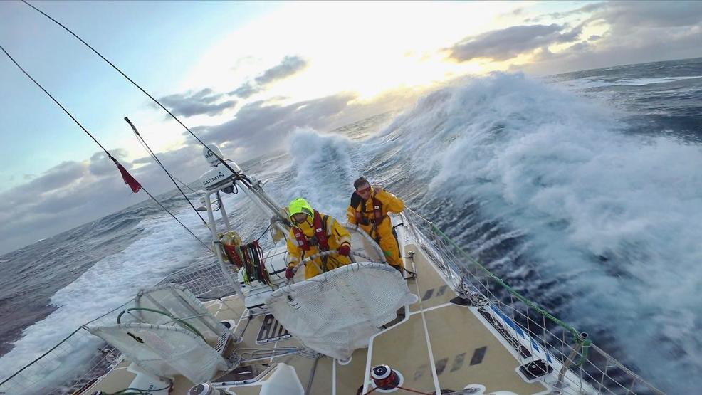 Watch: Clipper crews face 'phenomenal' 40+ foot waves in cross-ocean race to Seattle