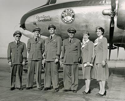 Alaska Airlines uniforms from the 1950s. Photo courtesy Alaska Airlines