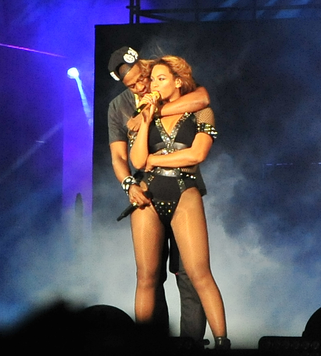 Beyonce and Jay-Z perform in Paris for their 'On the Run Tour'  on Sept. 12, 2014. (Tim Edwards/WENN.com)