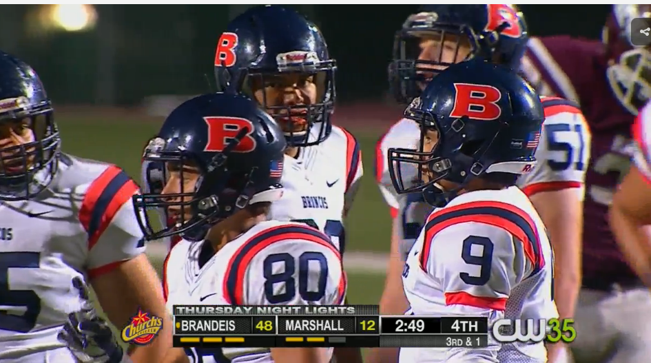Brandeis remains undefeated in district (3-0) as they defeat Marshall 48-12