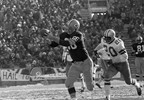 Boyd Dowler (86) of the Green Bay Packers grabs a Bart Starr touchdown pass against Mel Renfro of the Dallas Cowboys during the NFL Championship Game, Dec. 31, 1967, at Lambeau Field.