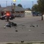 A serious moped accident sends a man to hospital