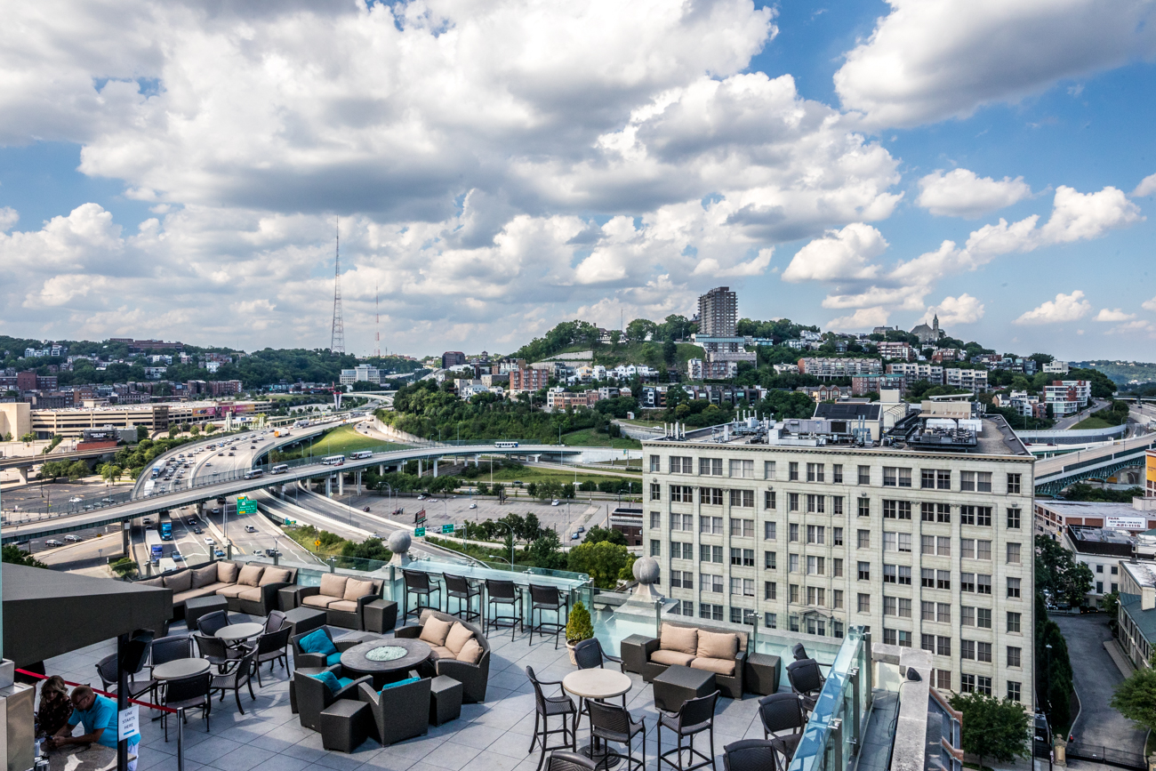 PLACE: Top of the Park at The Phelps at Residence Inn by Marriott / ADDRESS: 506 E. 4th Street (Downtown) / Top of the Park is a rooftop venue to enjoy tapas, cocktails, and some incredible skyline views from Cincinnati's Central Business District. / Image: Catherine Viox // Published: 9.8.20