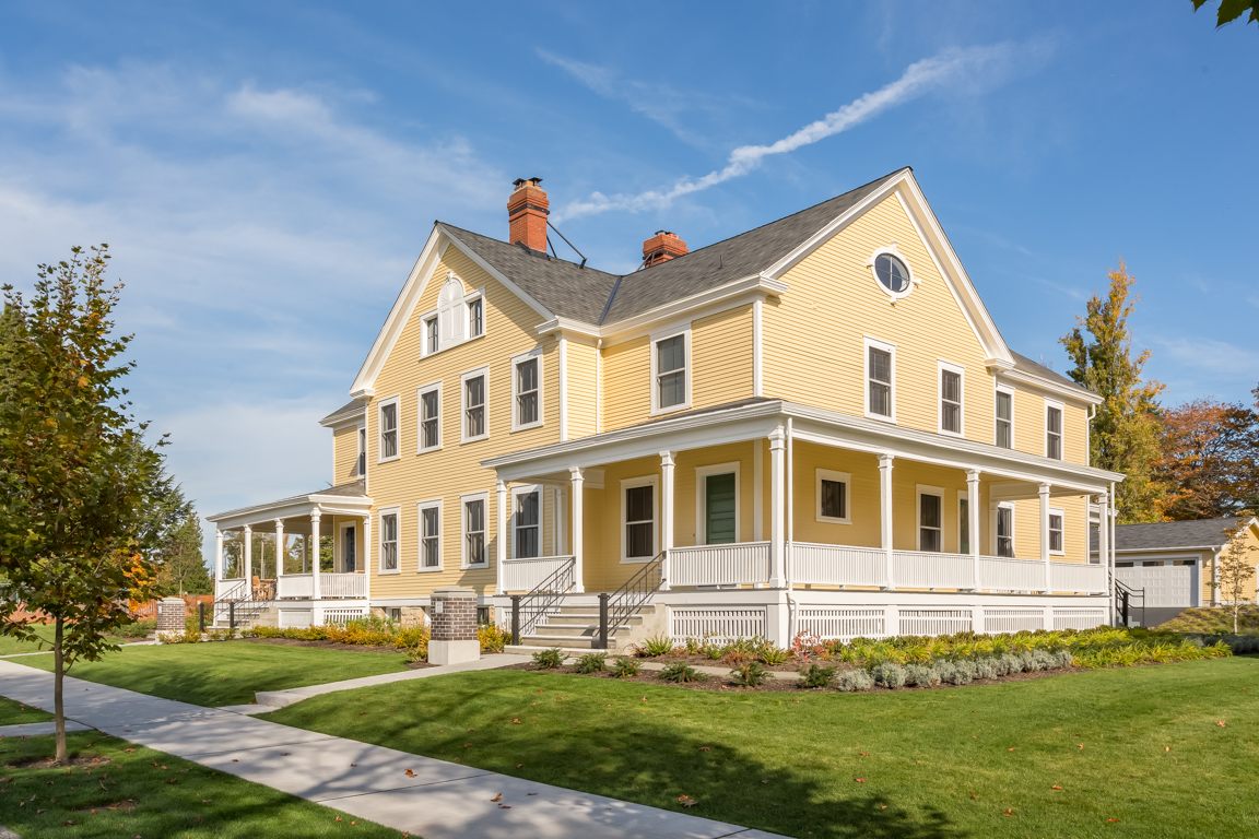With six bedrooms and four and a half bathrooms, the Frederick, built in 1904; features 6,278 square feet of beautifully restored historic architecture, in the heart of Seattle's Discovery Park.