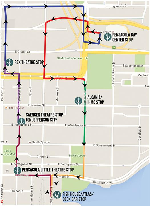 Night Trolley Route. Source: Pensacon