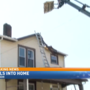 Crane smashes into roof of home in Tiltonsville