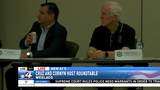 Sens. Ted Cruz and John Cornyn hold roundtable discussion with border officials
