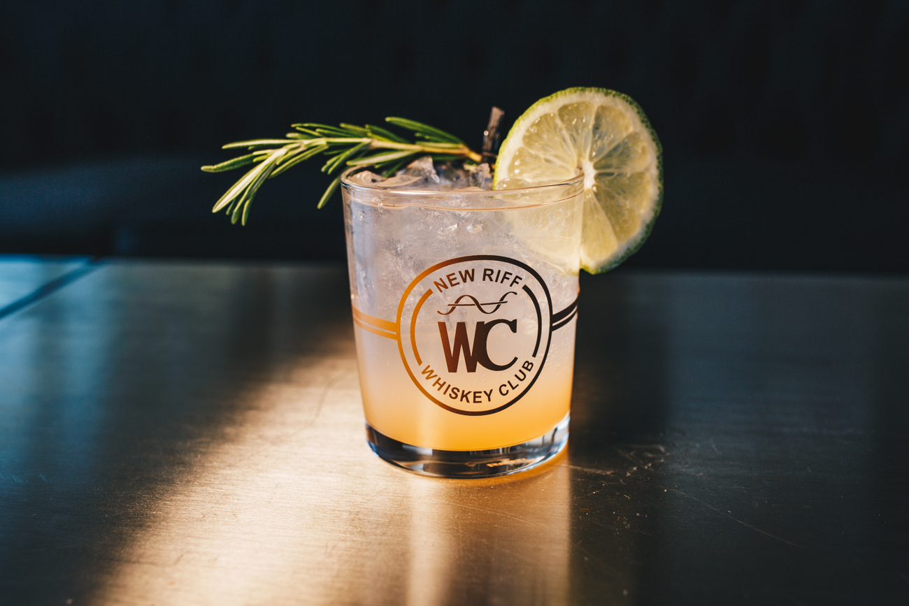 Wild Gin and Tonic: New Riff Wild Gin, New Riff Grapefruit shrub, Q-tonic, and garnished with fresh rosemary and a lime / Image: Catherine Viox // Published: 3.25.19