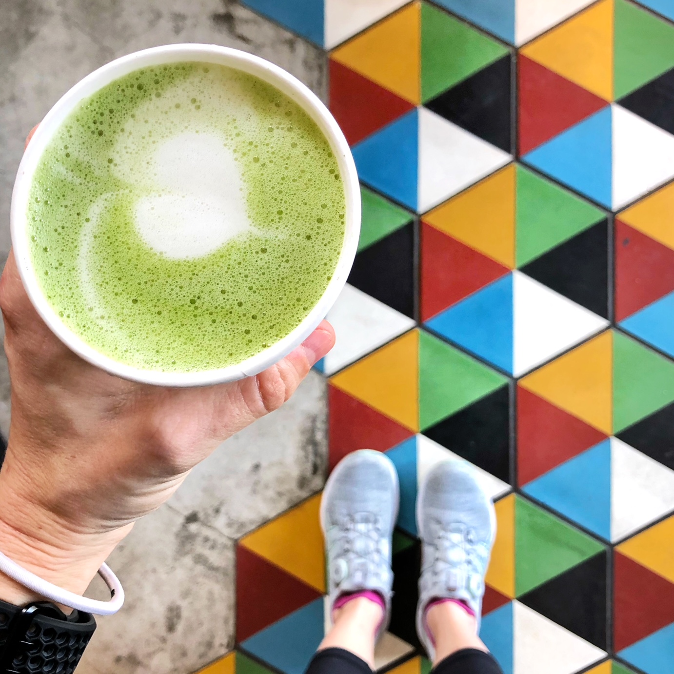 Coffee and matcha were staples to keeping energy high throughout a low-calorie day.{ }(Image: Amanda Shapin)