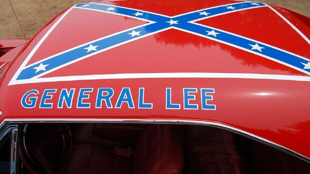 confederate flag removed from dukes of hazzard general. Black Bedroom Furniture Sets. Home Design Ideas