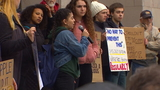 Bellingham students walk out of class, hold rally to call for end to gun violence in U.S.