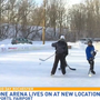 Outdoor ice rink lives on at new location