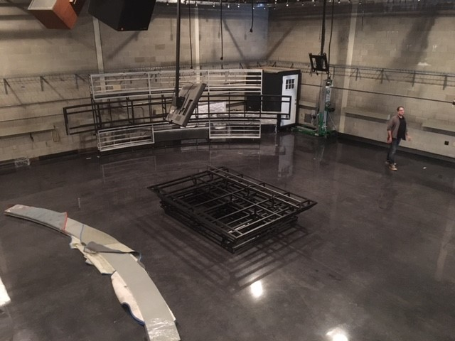 Each part of the set was assembled in the studio.{&amp;nbsp;}It took 25 days to assemble, re-wire, mount monitors and light the new set (WSYX/WTTE)<p></p>