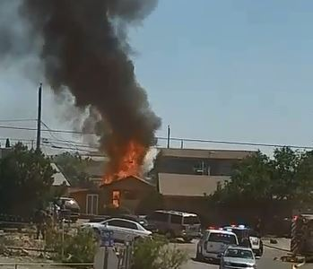 House fire on Coach and Hannibal in Westway, Texas. (Credit: Rosie Susita)
