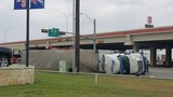 18-wheeler rollover causes traffic delays in San Benito