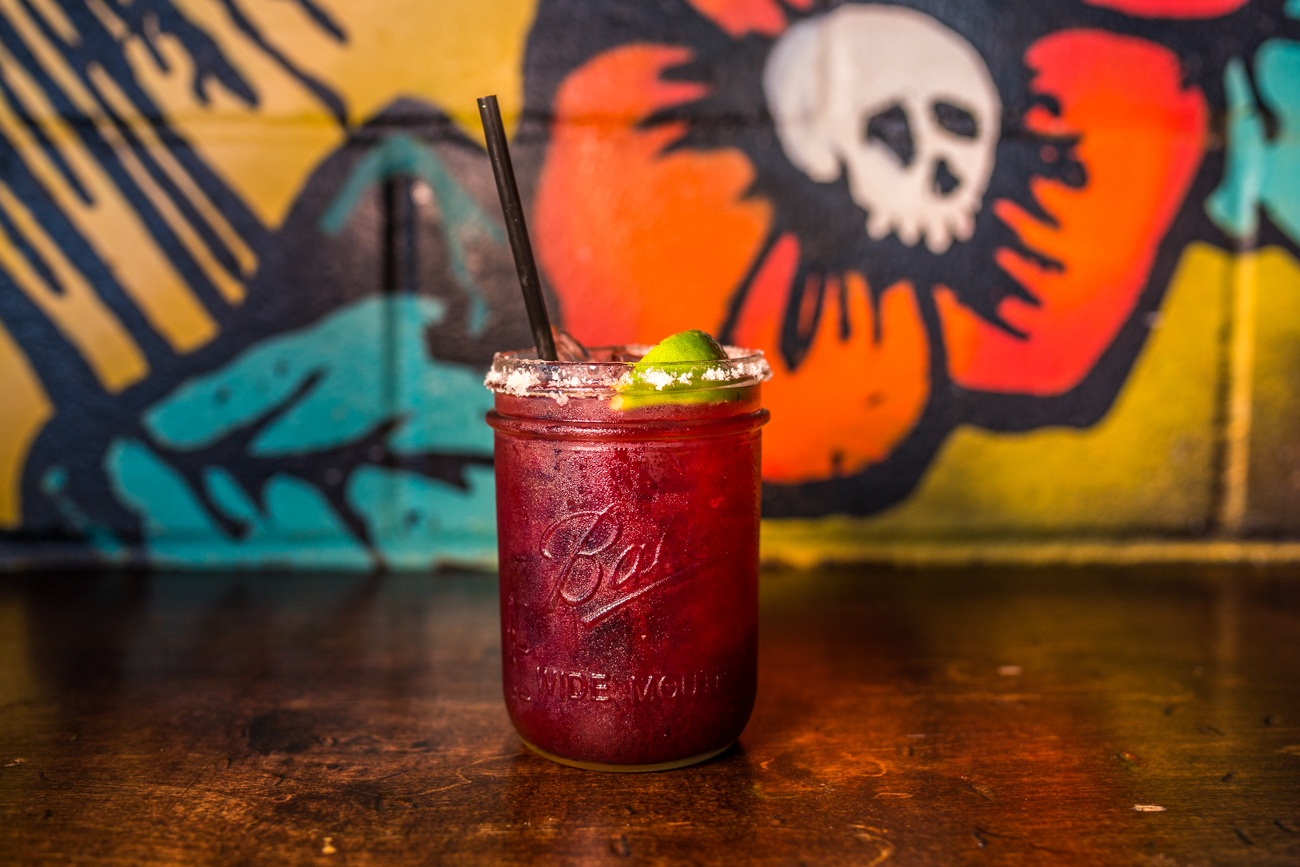 Blackberry Margarita: reposado tequila, triple sec, house mix, lime, and fresh blackberry juice / Image: Catherine Viox{ }// Published: 6.9.19