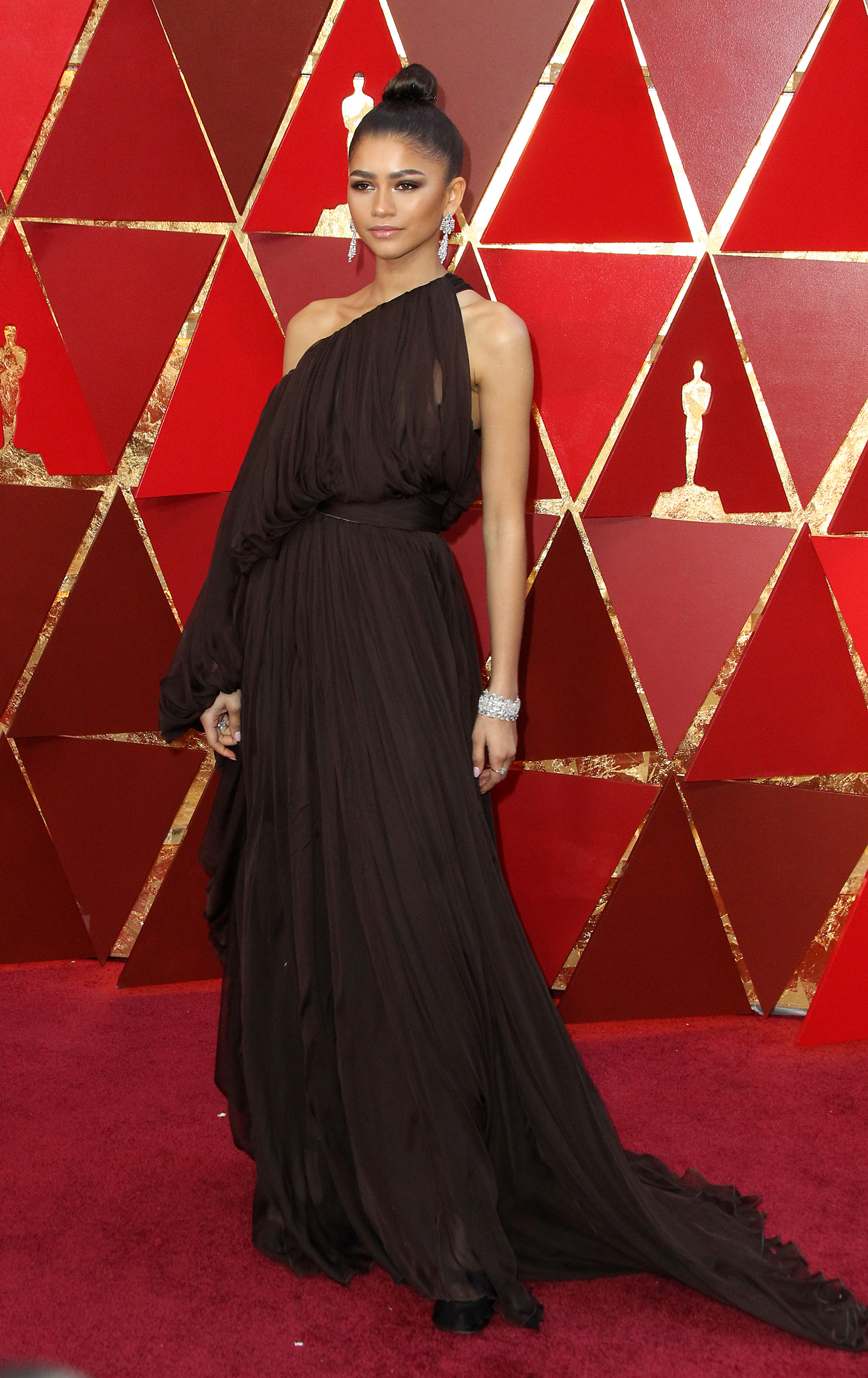 Zendeya        arrives at the 90th Annual Academy Awards (Oscars) held at the Dolby Theater in Hollywood, California. (Image: Adriana M. Barraza/WENN.com)<p></p>
