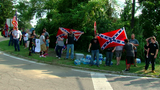 Dozens gather to protest Confederate memorial removal in Franklin