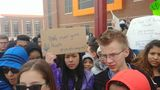 Midvale Junior High students walkout to bring awareness to gun violence