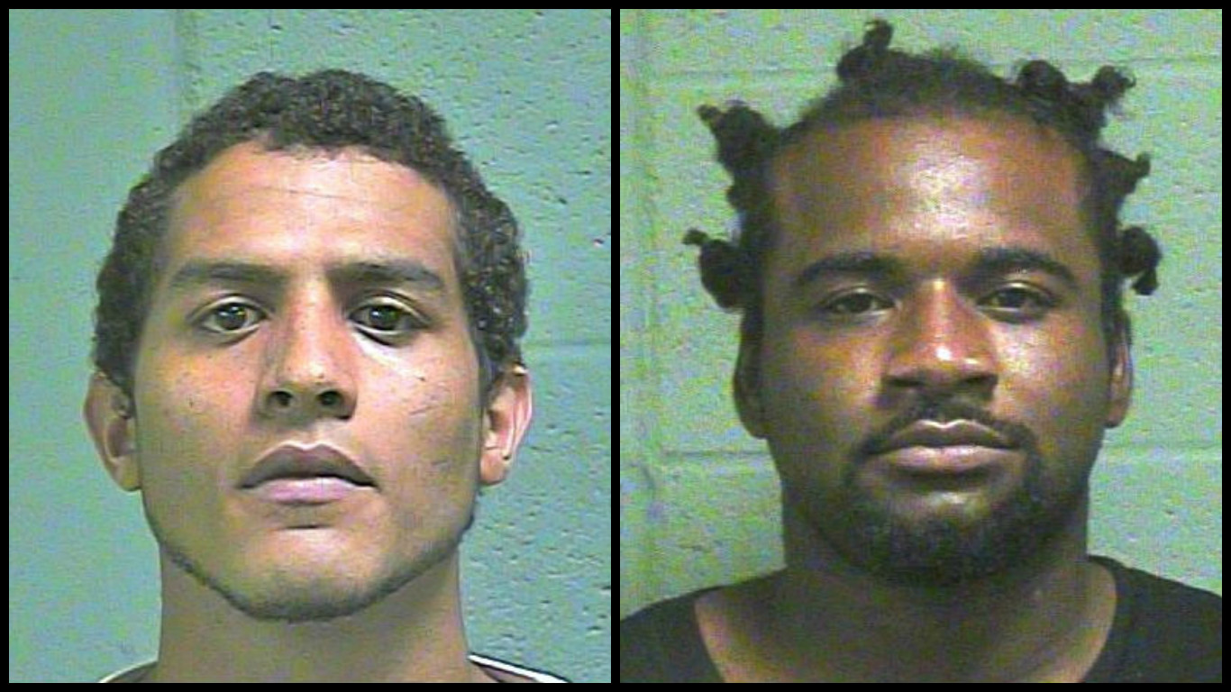 "Janson Jackson and Rodney Arnold are both in custody after being featured on ""Oklahoma's Most Wanted"". (Oklahoma County Jail)"