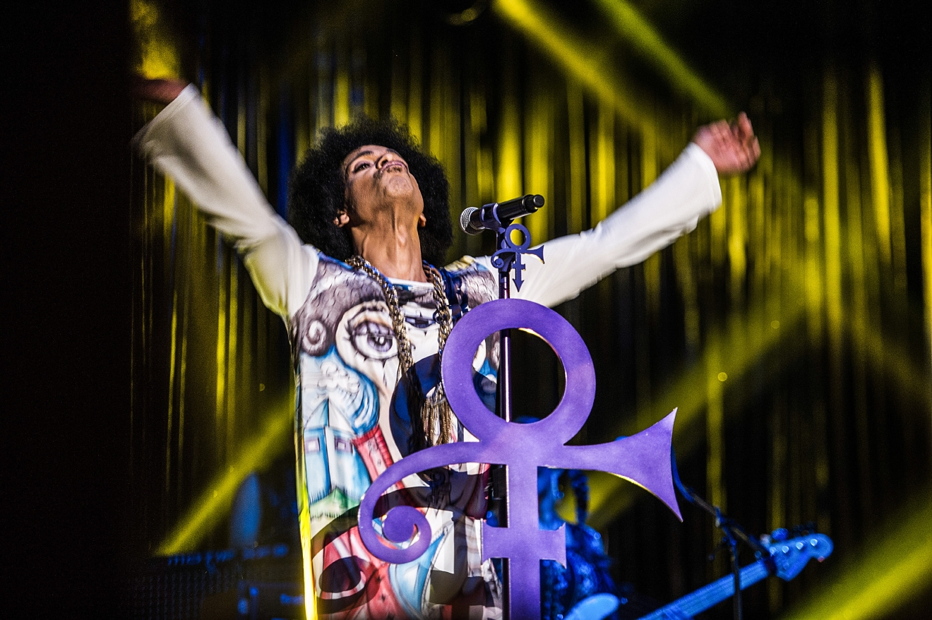 "Prince performs live in Birmingham at the LG Arena in May 2014 on his ""Hit and Run part II"" tour. The music icon died on Thursday 21st April 2016 at his Paisley Park estate in Minnesota at the age of 57.  Featuring: Prince, Prince Rogers Nelson Where: Birmingham, United Kingdom When: 21 Apr 2016 Credit: WENN.com"