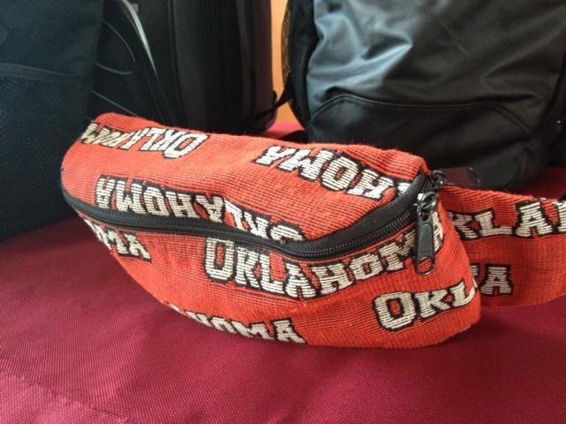 Sooner fannypack. If you've got it, don't bring it, it won't be allowed in.