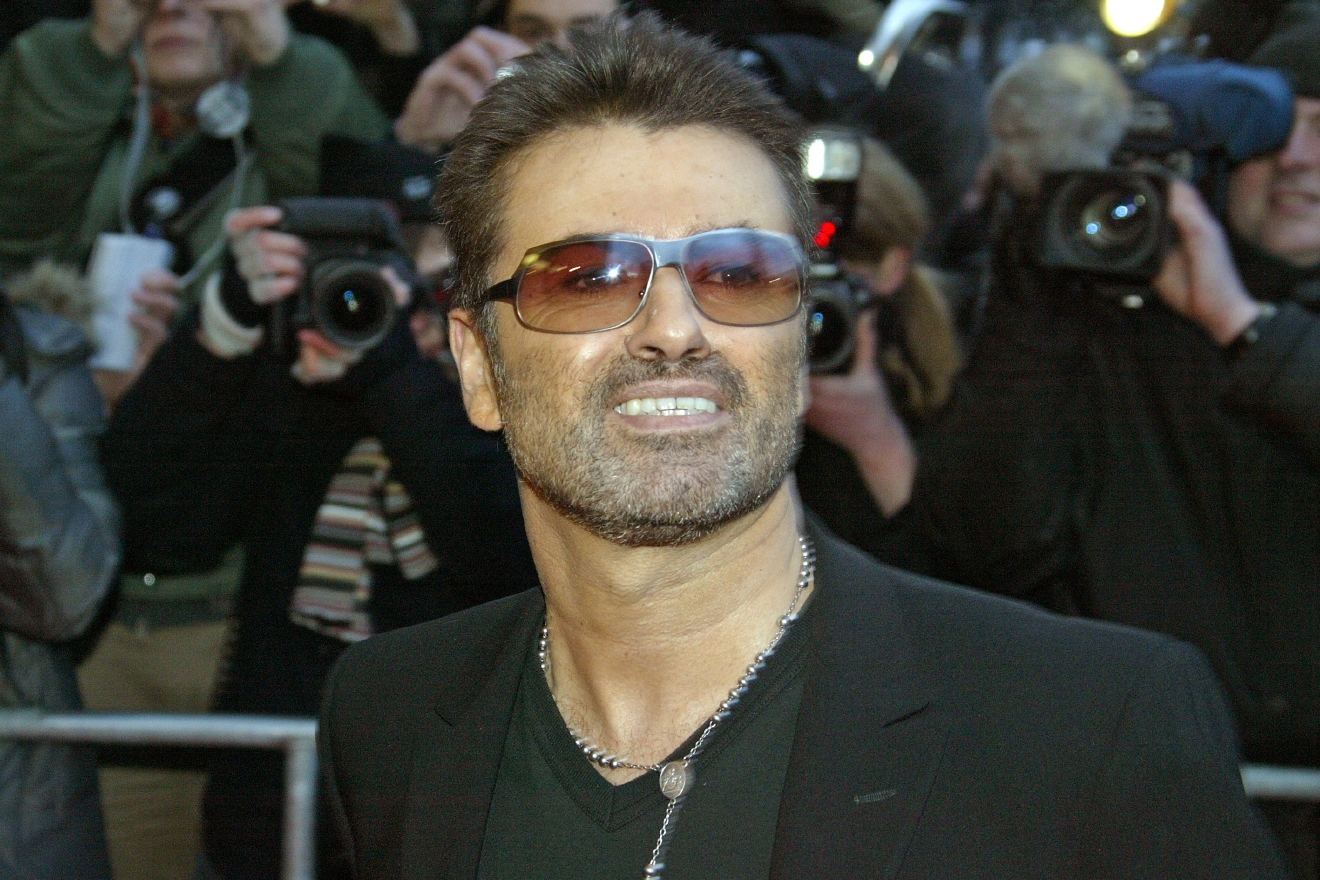 George Michael attends the 55th Berlin International Film Festival. (Tschiponnique Skupin/Future Image/WENN.com)