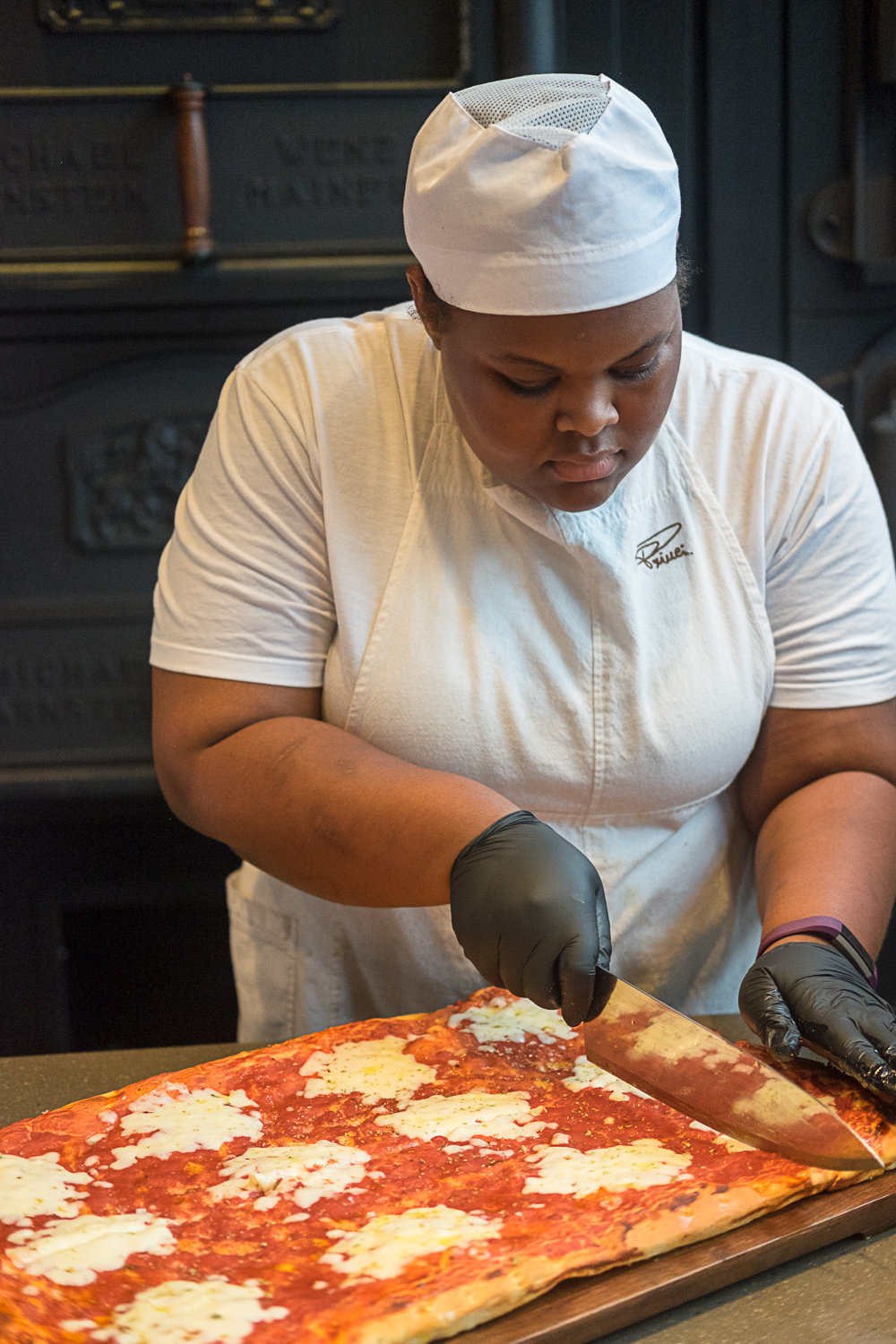 Pizza will be served by the slice from 11 am. until close. Crafted on a focaccia base, brushed with housemadepomodoro sauce and topped with premium ingredients like mozzarella di bufala, speck and scamorza, roasted eggplant and colorful peppers. (Image: Paola Thomas / Seattle Refined){&amp;nbsp;}<p></p>