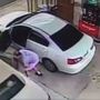 Video shows man steal from car at Perry Kroger as woman pumps gas