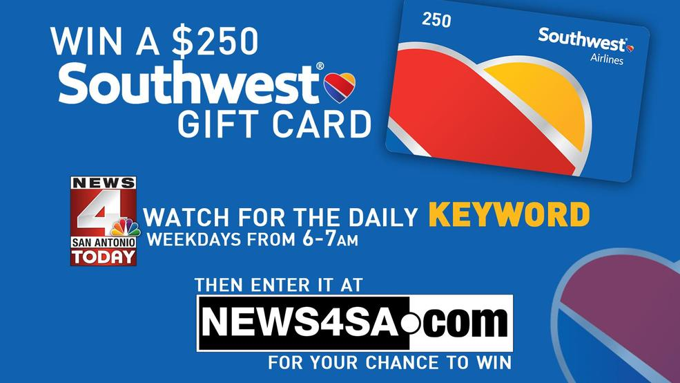 WATCH FOR THE KEYWORD: Southwest Airlines Gift Card Giveaway | WOAI